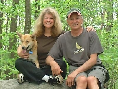 Linda and Nick Barbadoro with their dog