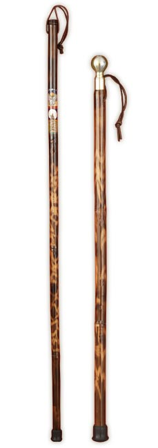 Bamboo walking stick and cane